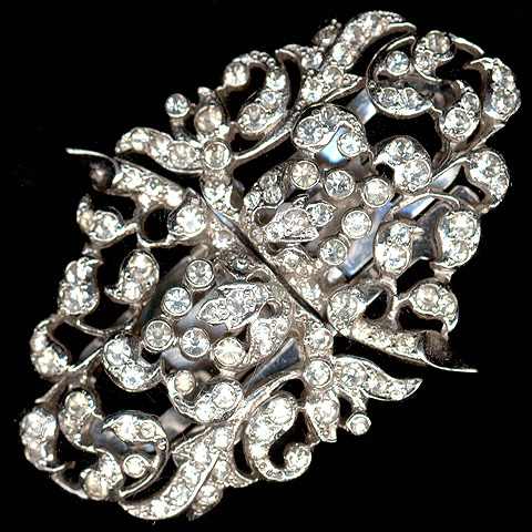 MB Boucher Pave Fruits and Leaves Pair of Dress Clips or Pin 'Duette'