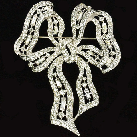 MB Boucher Pave Bow Pin