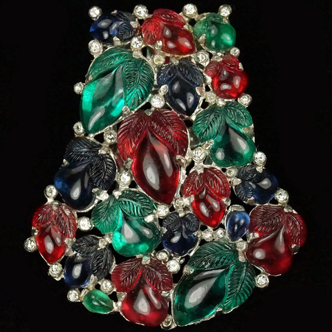 KTF Trifari 'Alfred Philippe' Bell Shaped Tricolour Fruit Salad Dress Clip