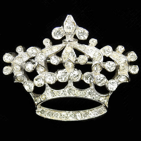 Trifari 'Alfred Philippe' Pave Coronet Crown Pin